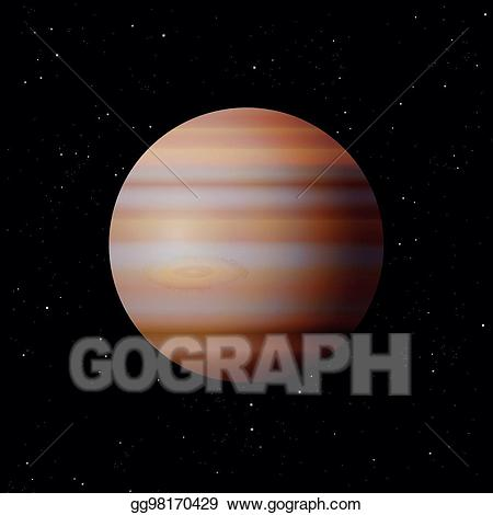 Galaxy clipart typical. Vector art jupiter planet