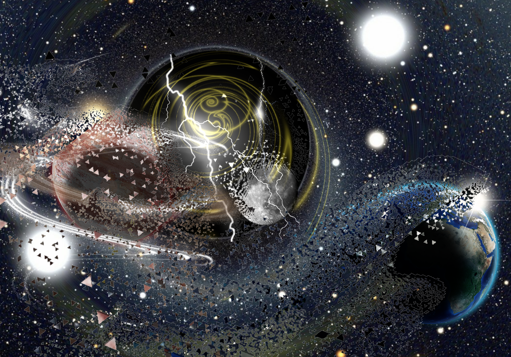 Moon blackhole space stars. Planets clipart galaxy