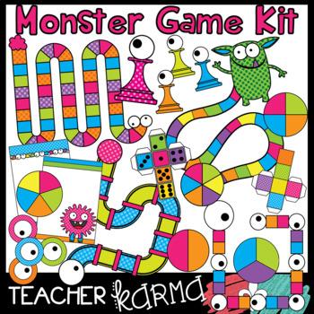 Monster kit diy boards. Game clipart