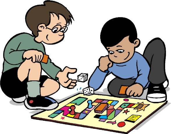 Playing monopoly . Game clipart