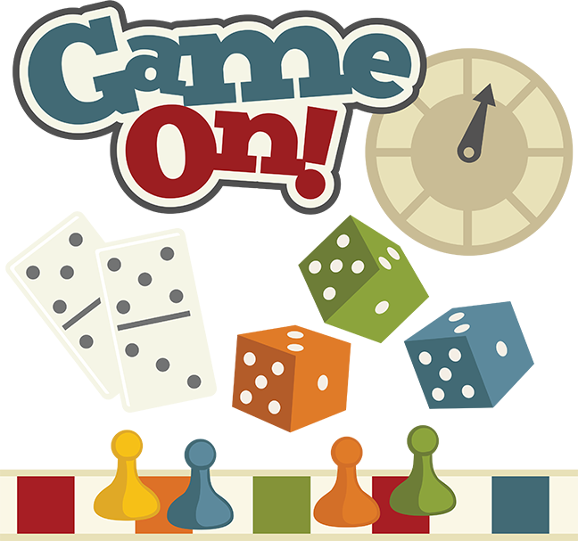 Board game pieces clip. Games clipart