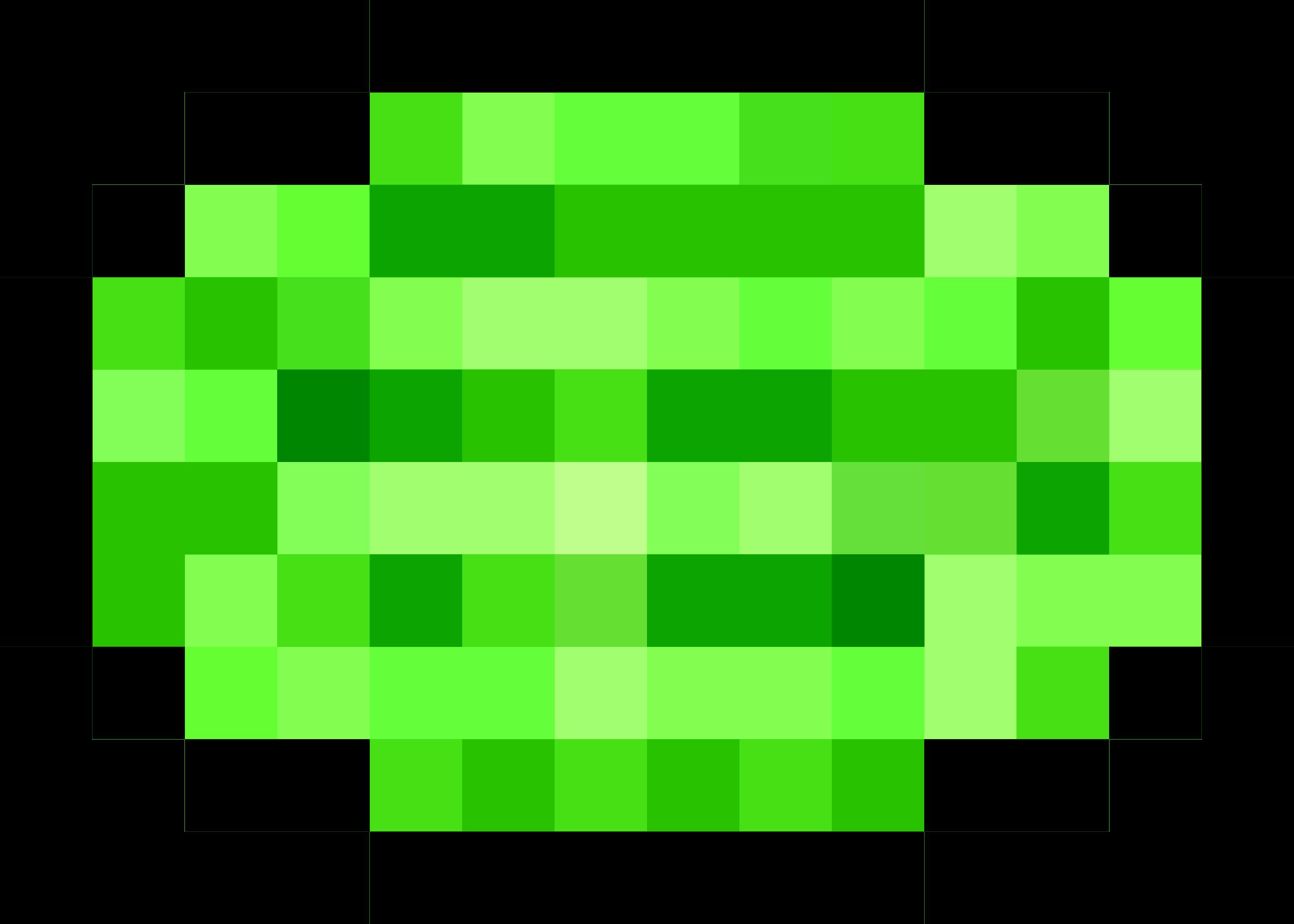 Pixel watermelon big image. Game clipart 8 bit