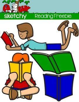 Freebie reading clip art. Game clipart book