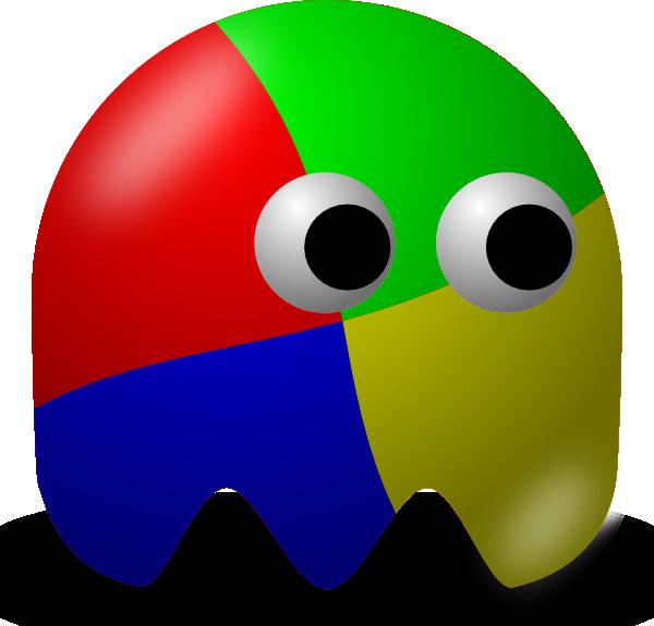 Game clipart cartoon. Pcman ghost clip art