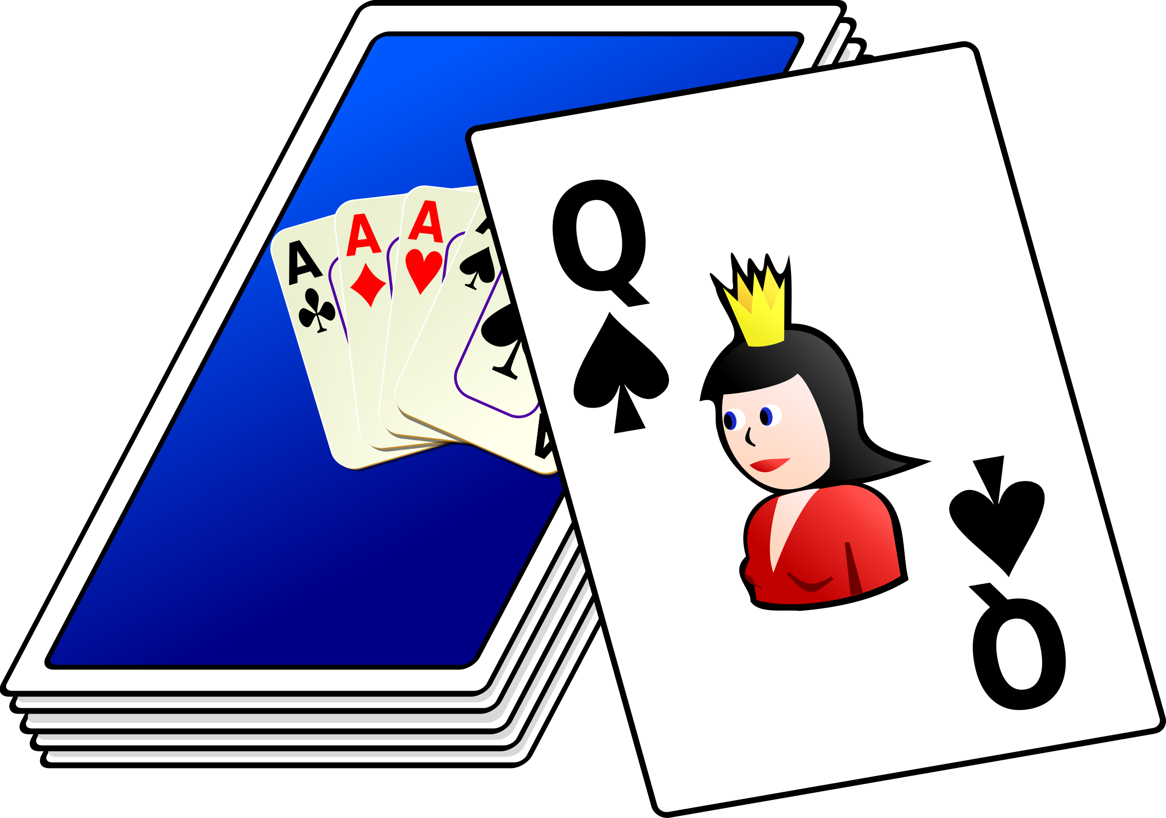 Game clipart deck card. Of cards big image