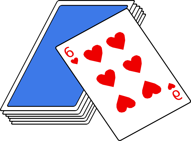 Cards medium image png. Game clipart deck card