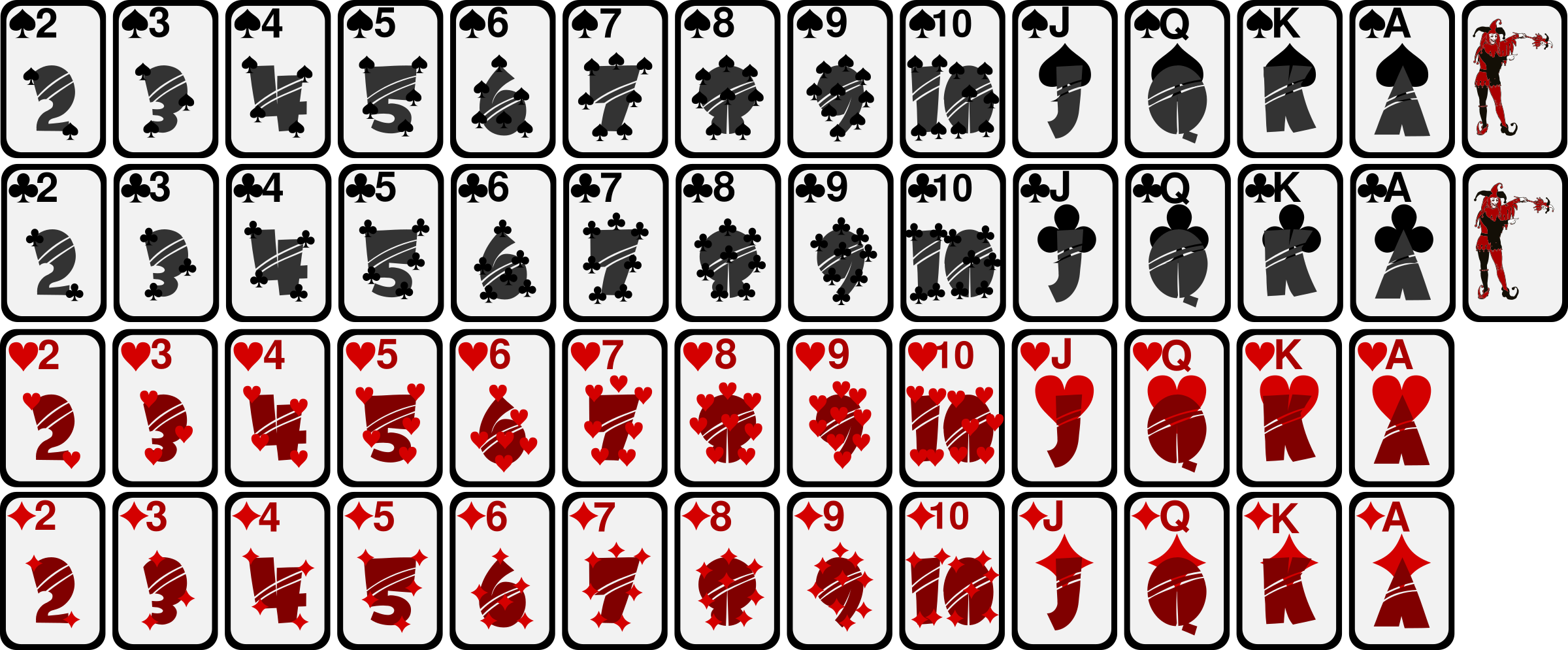 Game clipart deck card. Of playing cards big