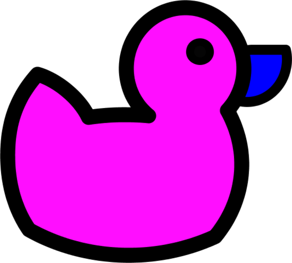 Pink. Game clipart duck pond