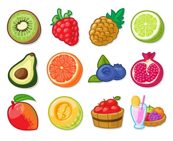 Slot machine icons on. Game clipart food