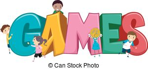 Game clipart friendly kid. Games pencil and in