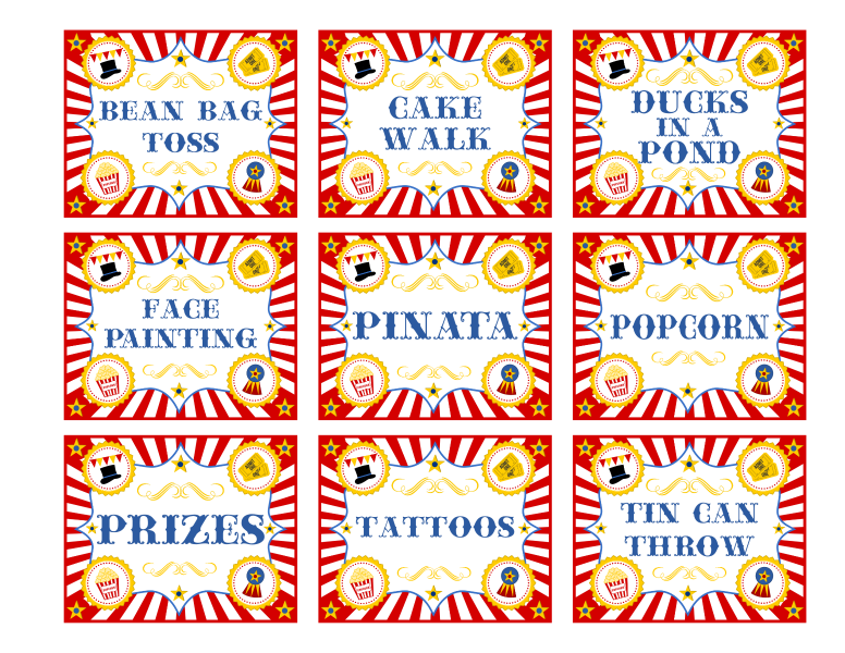 Free circus birthday party. Game clipart funfair game