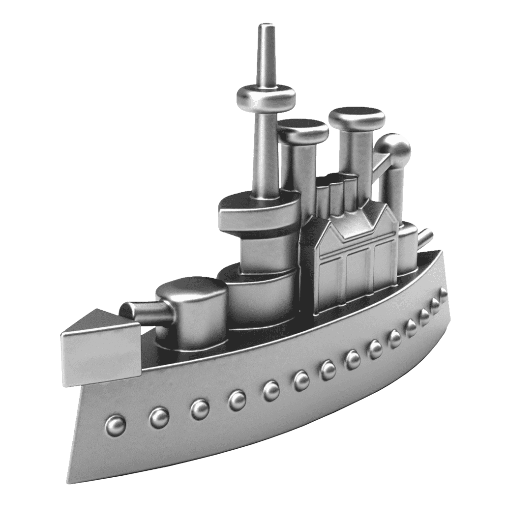 Ship game piece from. Games clipart monopoly board