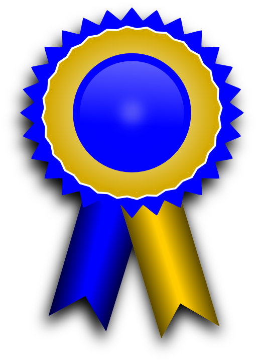 Prizes free download best. Medal clipart blue