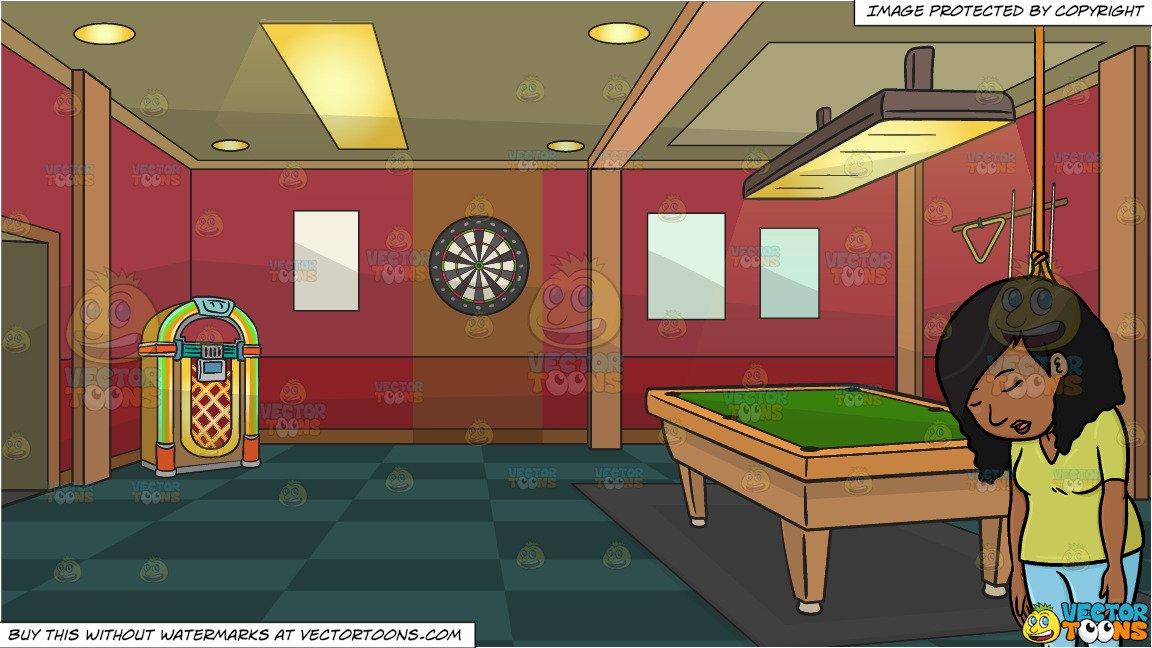 A black female dies. Game clipart game room
