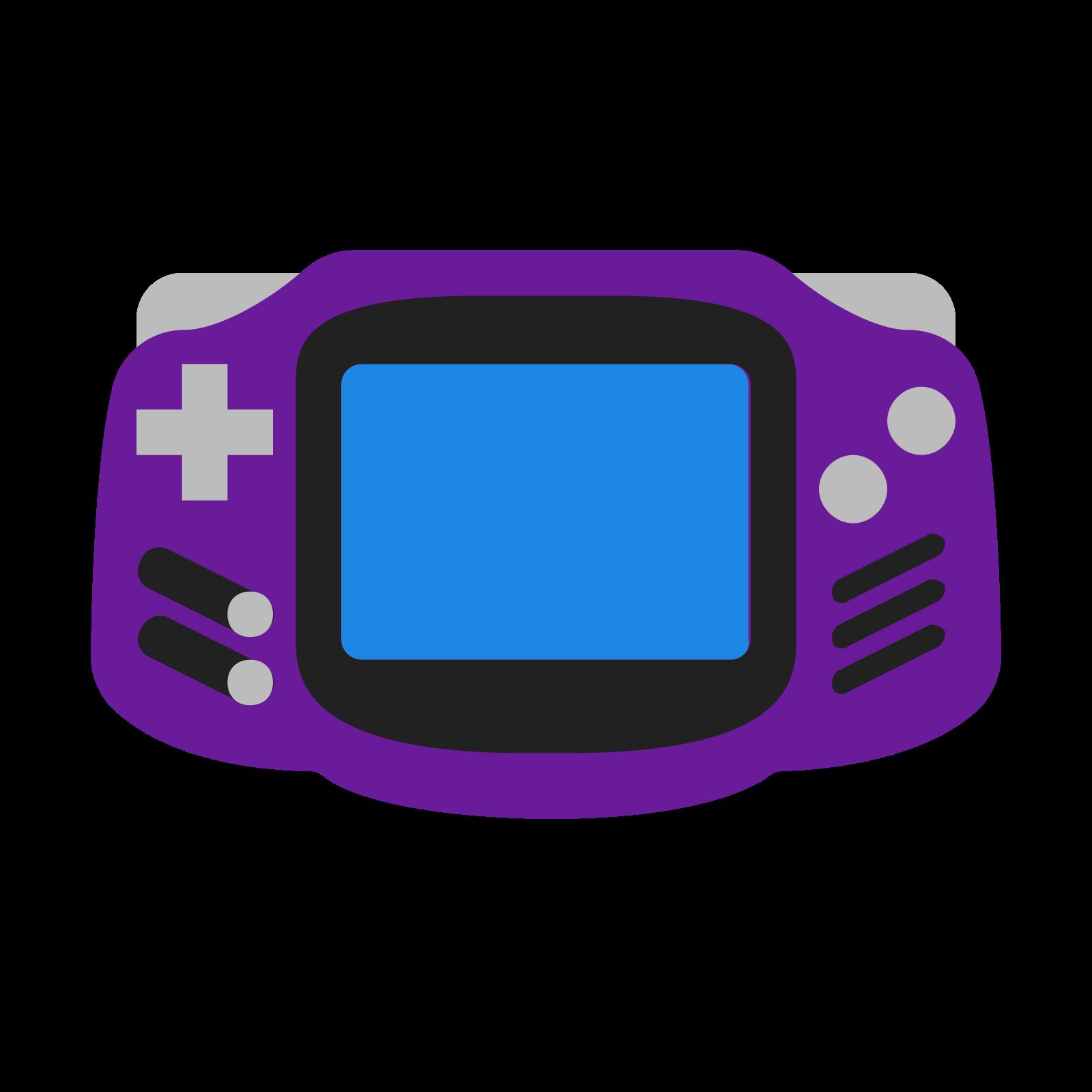Boy color logo vector. Game clipart gameboy