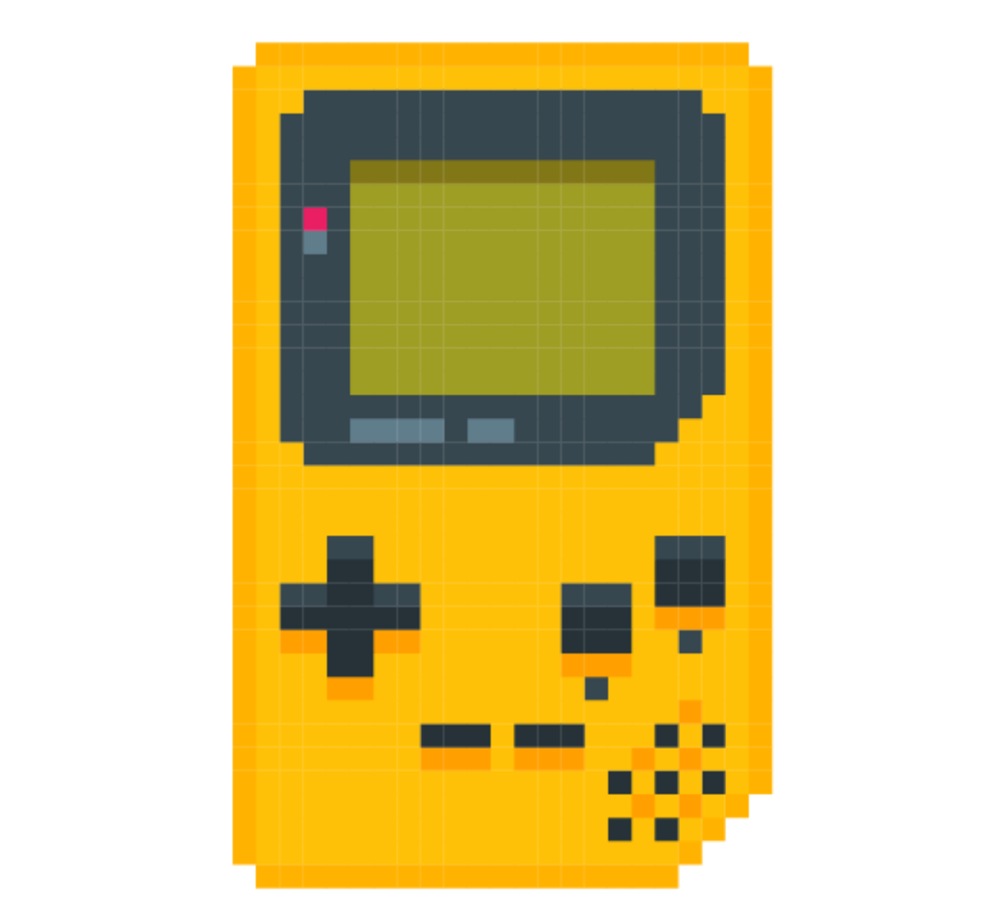 Game clipart gameboy. Freetoedit ftestickers pixel yellow