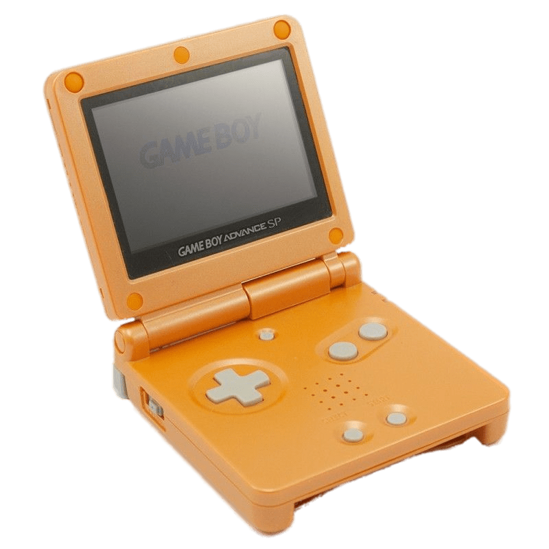 Orange game boy advance. Games clipart handheld
