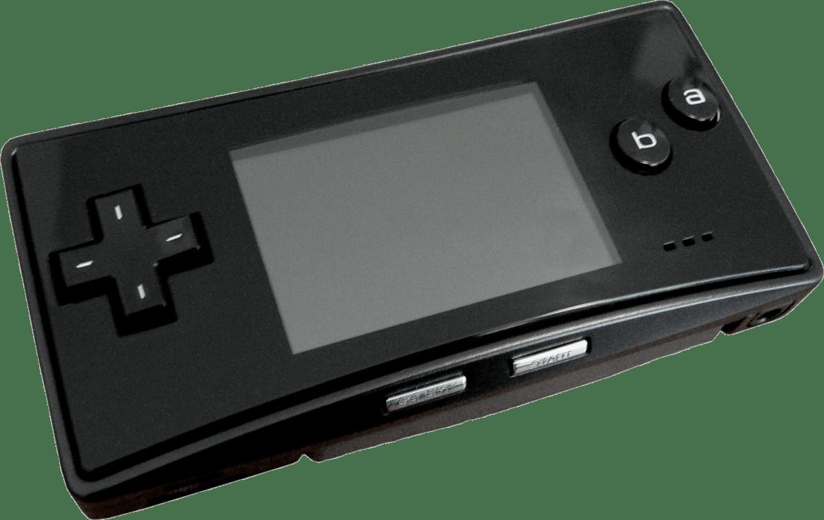 Games clipart handheld. Black game boy micro
