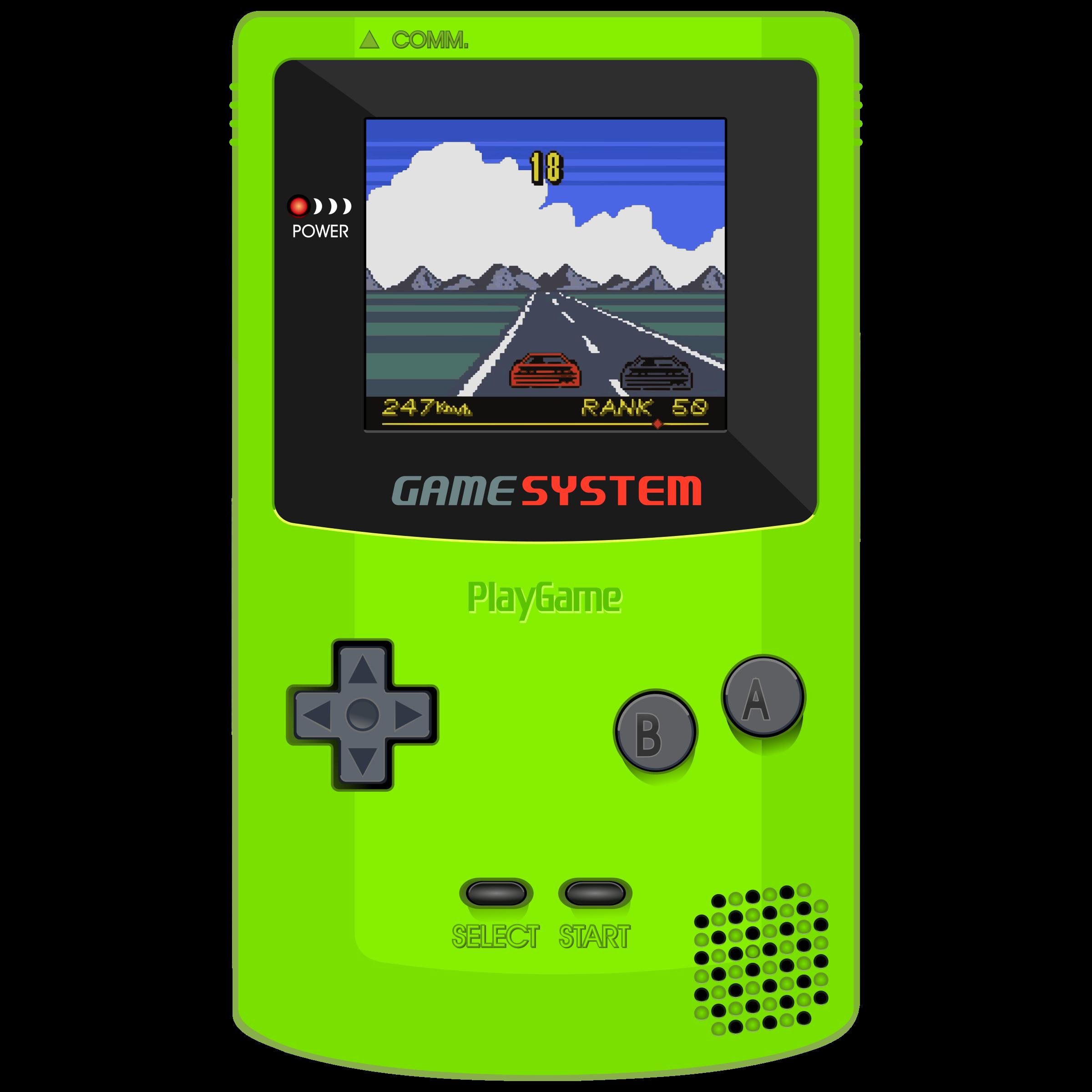 Game clipart gameboy. Video system portative big
