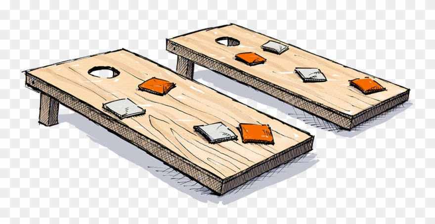 Cornhole belknap hill board. Game clipart lets play