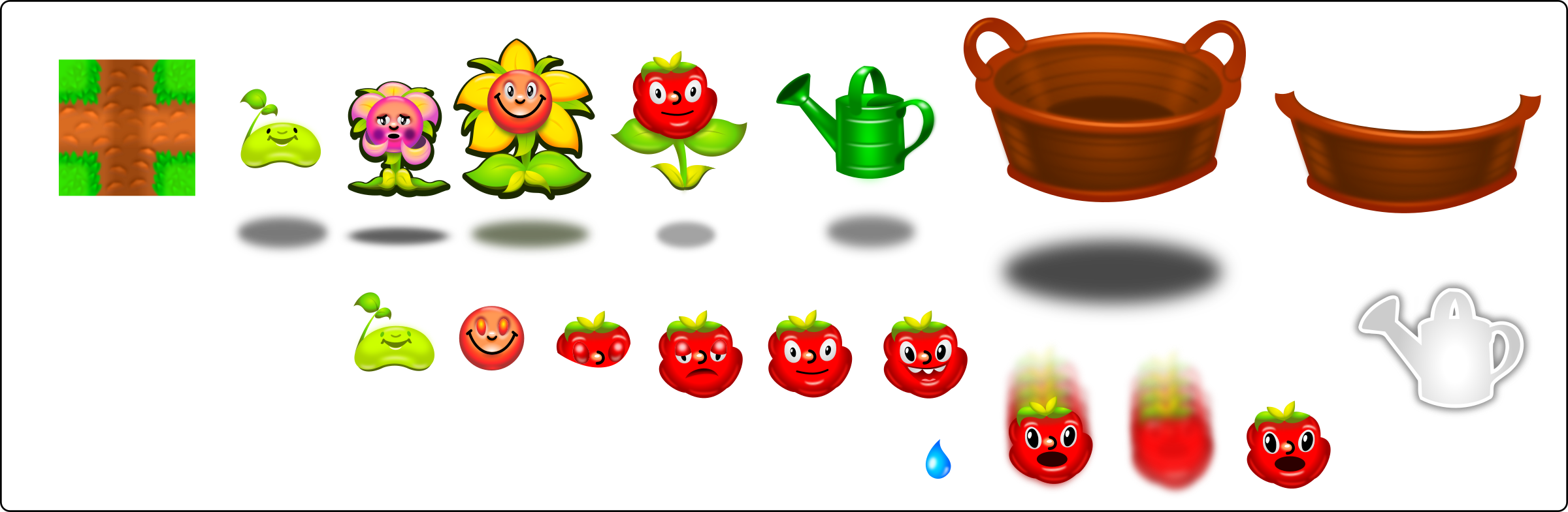 Game clipart mobile game. Characters sheet production quality