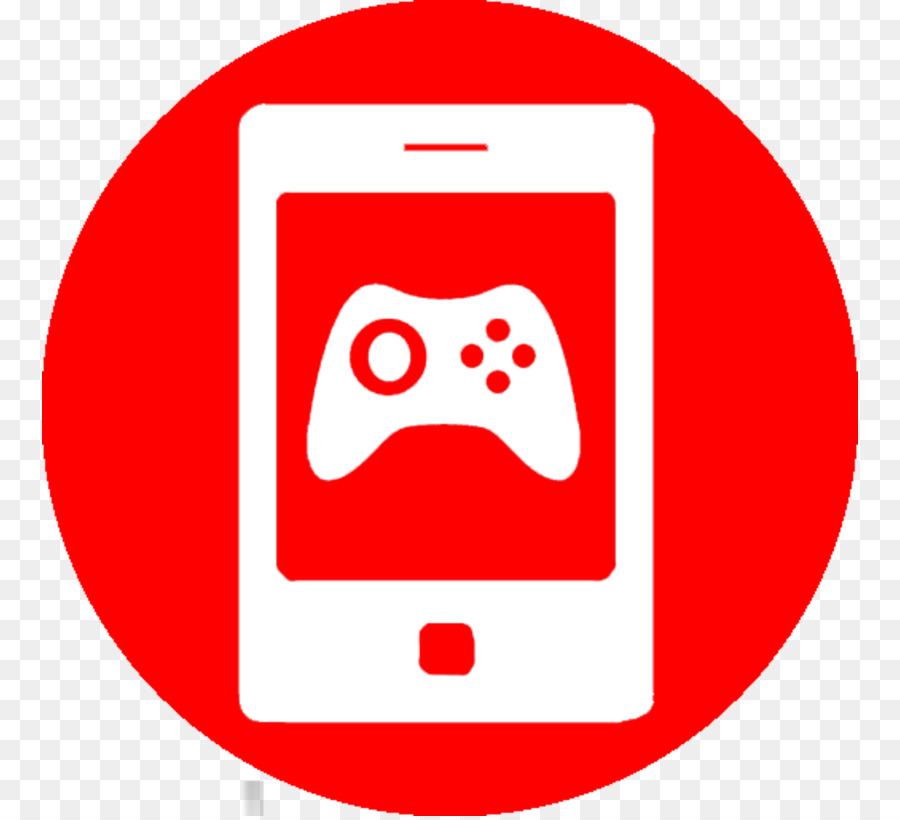 Video icon red text. Game clipart mobile game