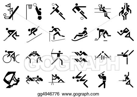 Stock illustration olympic drawing. Game clipart olympics games