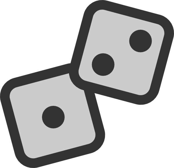 Gaming clipart roll dice. Clip art at clker