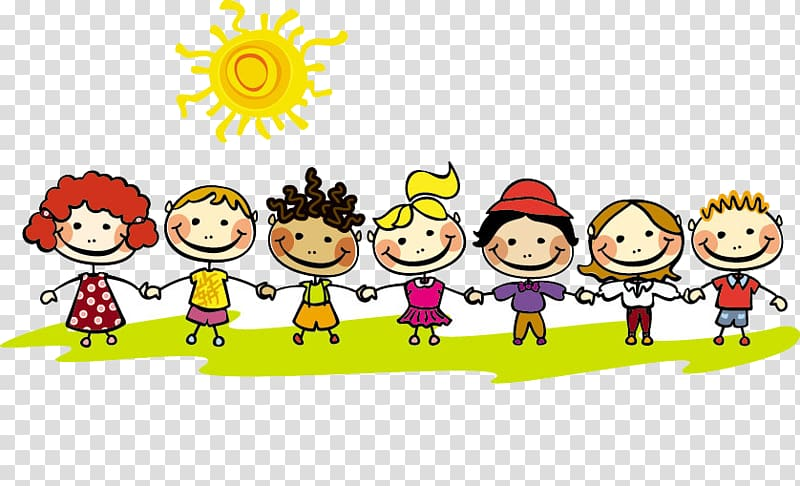 Game clipart summer game. Seven children playing vacation