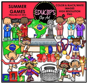 Game clipart summer game. Games clip art bundle