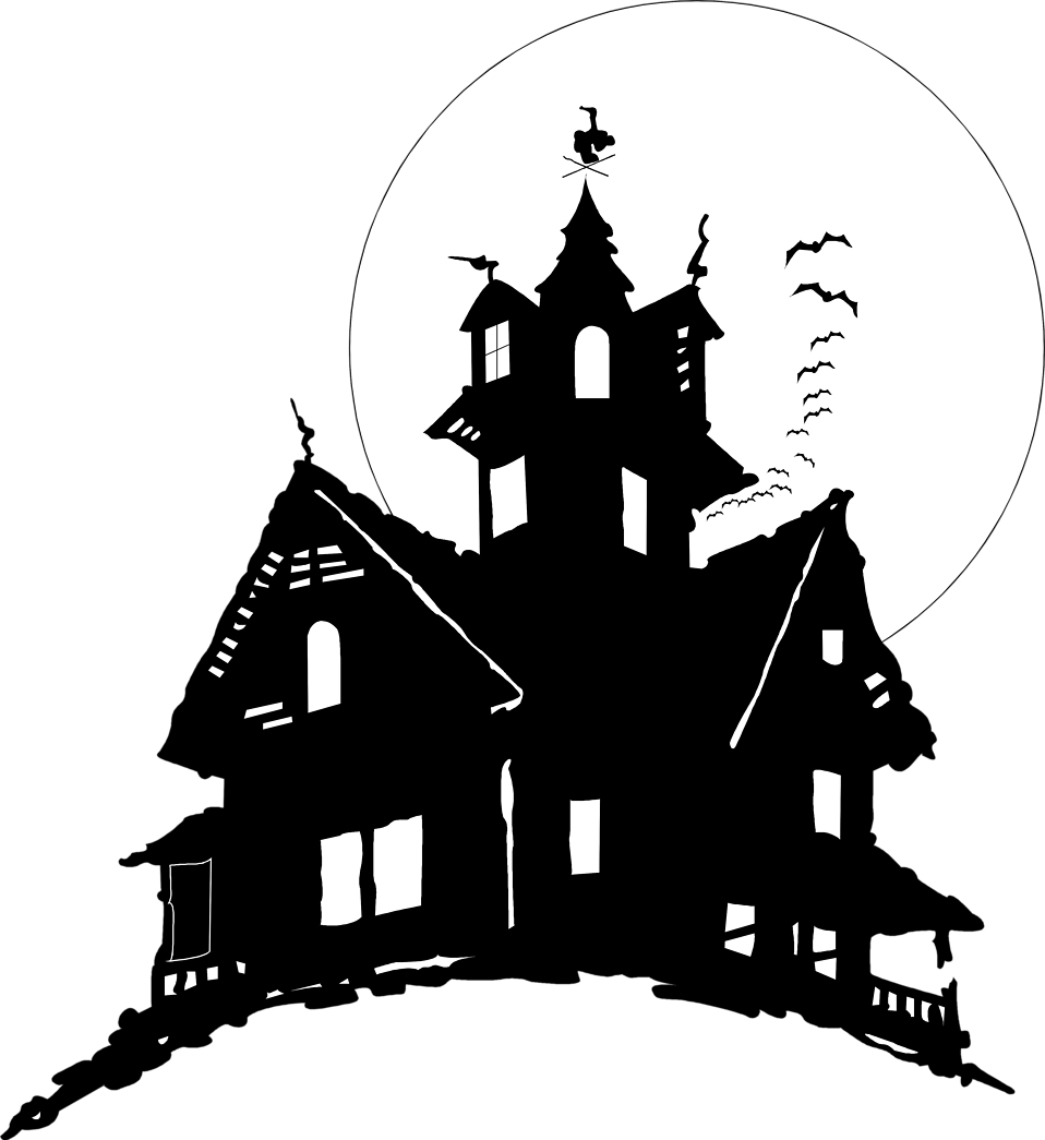 Fairy house silhouettes . Game clipart transparent