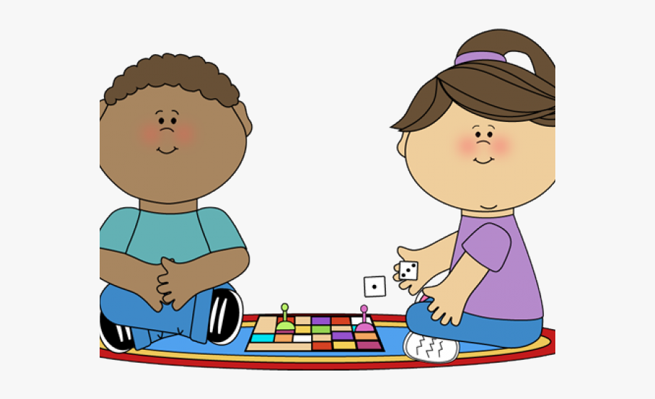 Kids playing children games. Game clipart childhood game