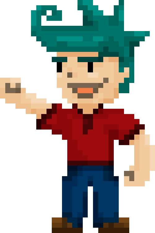 character large final. Games clipart 8 bit