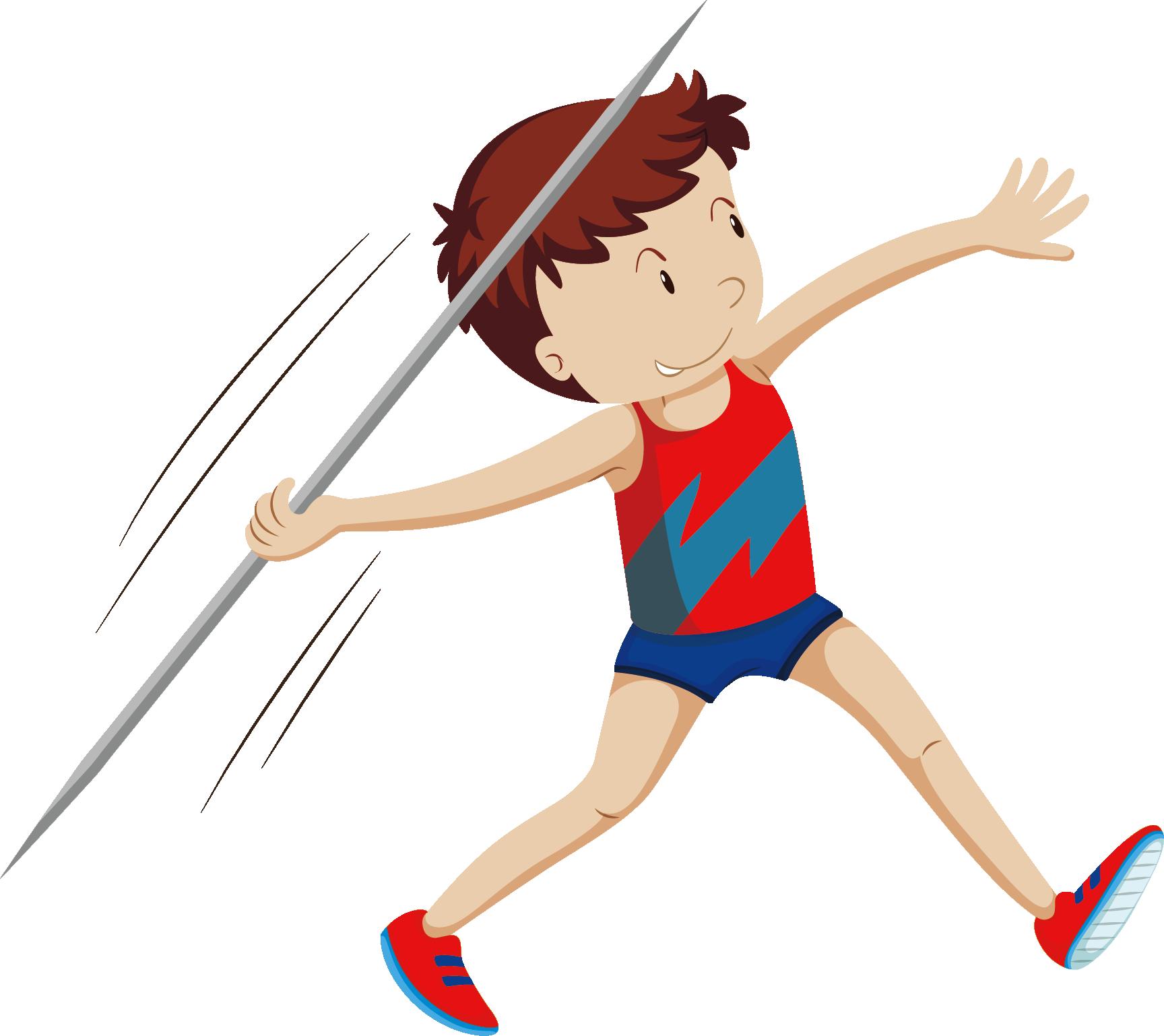 Javelin throw athlete illustration. Games clipart athletics games