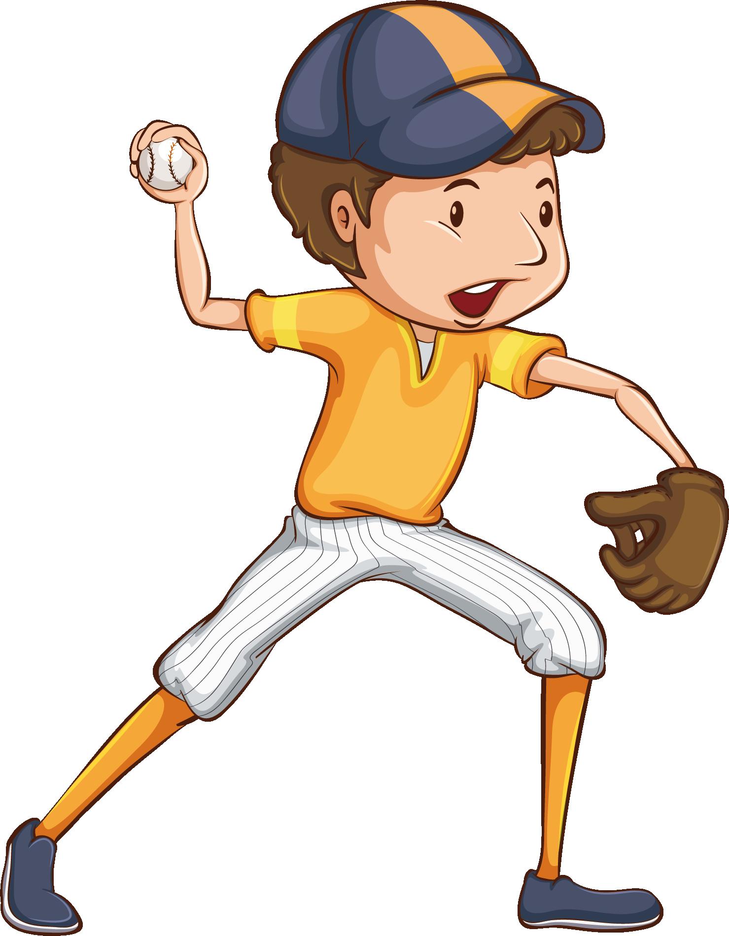Ball cartoon illustration game. Games clipart baseball match