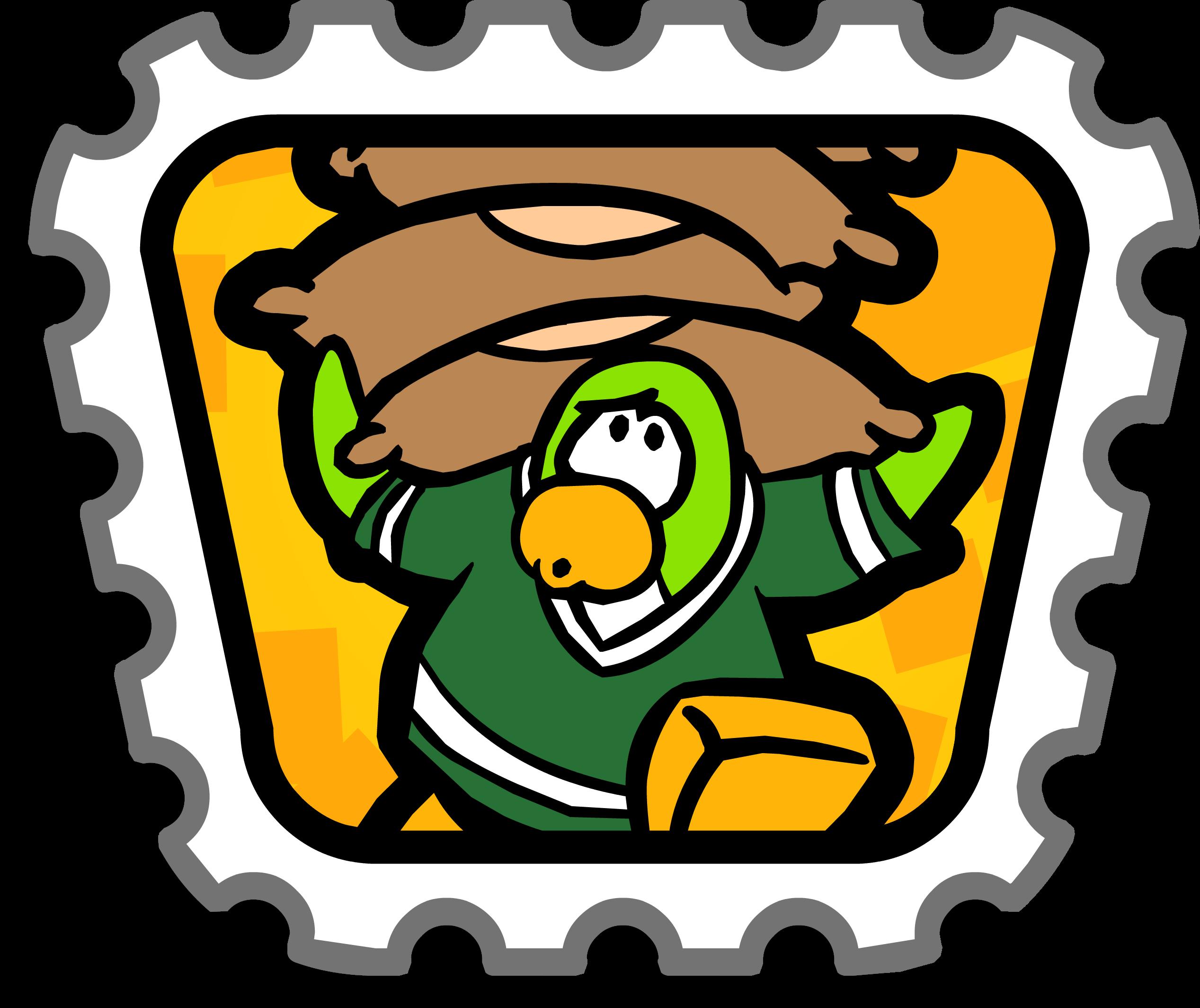 Games clipart bean bag race. Balance stamp club penguin