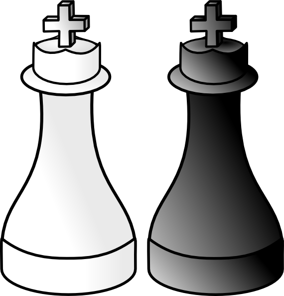 Games clipart black and white. Kings clip art at