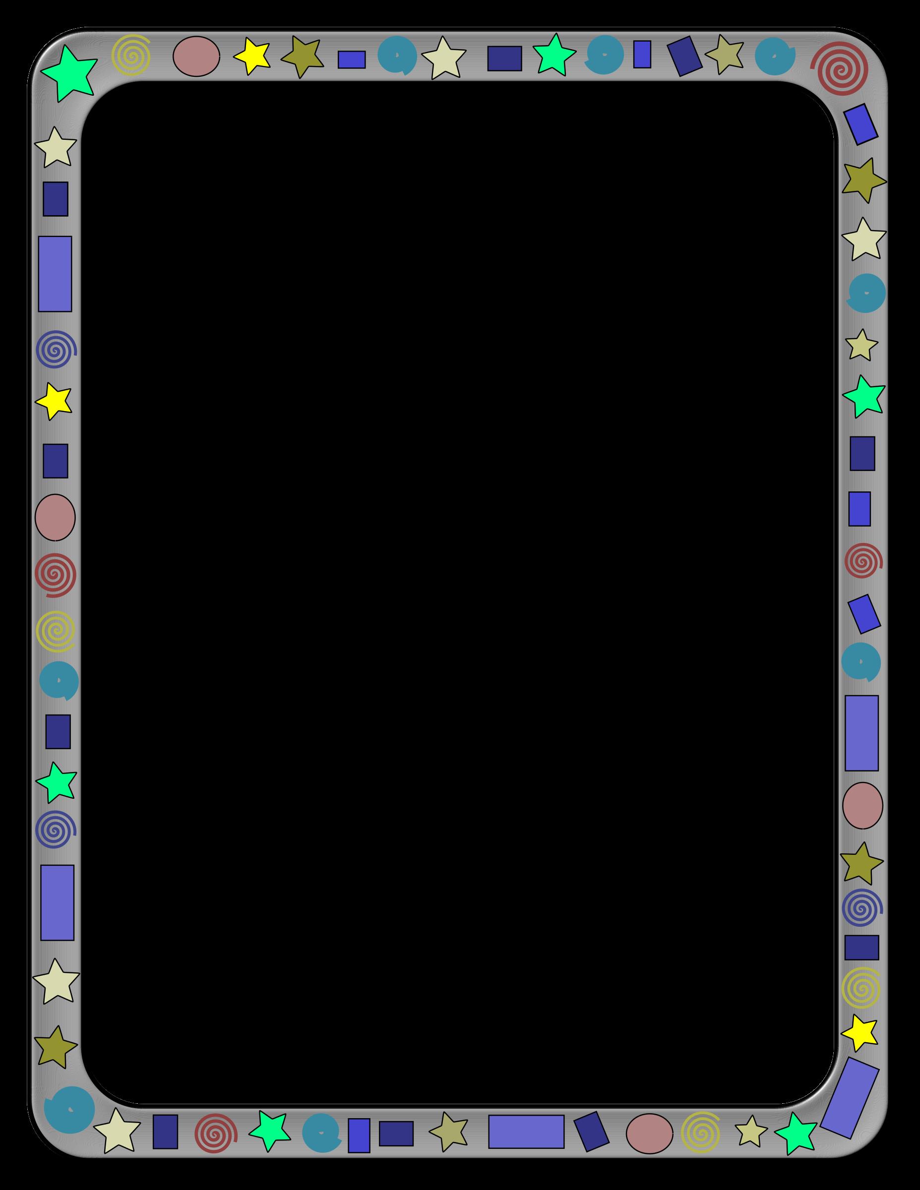 Clipart big image. Abstract border png