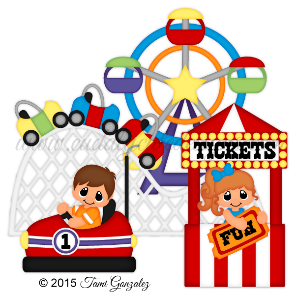 Games clipart carnival. Summer rides