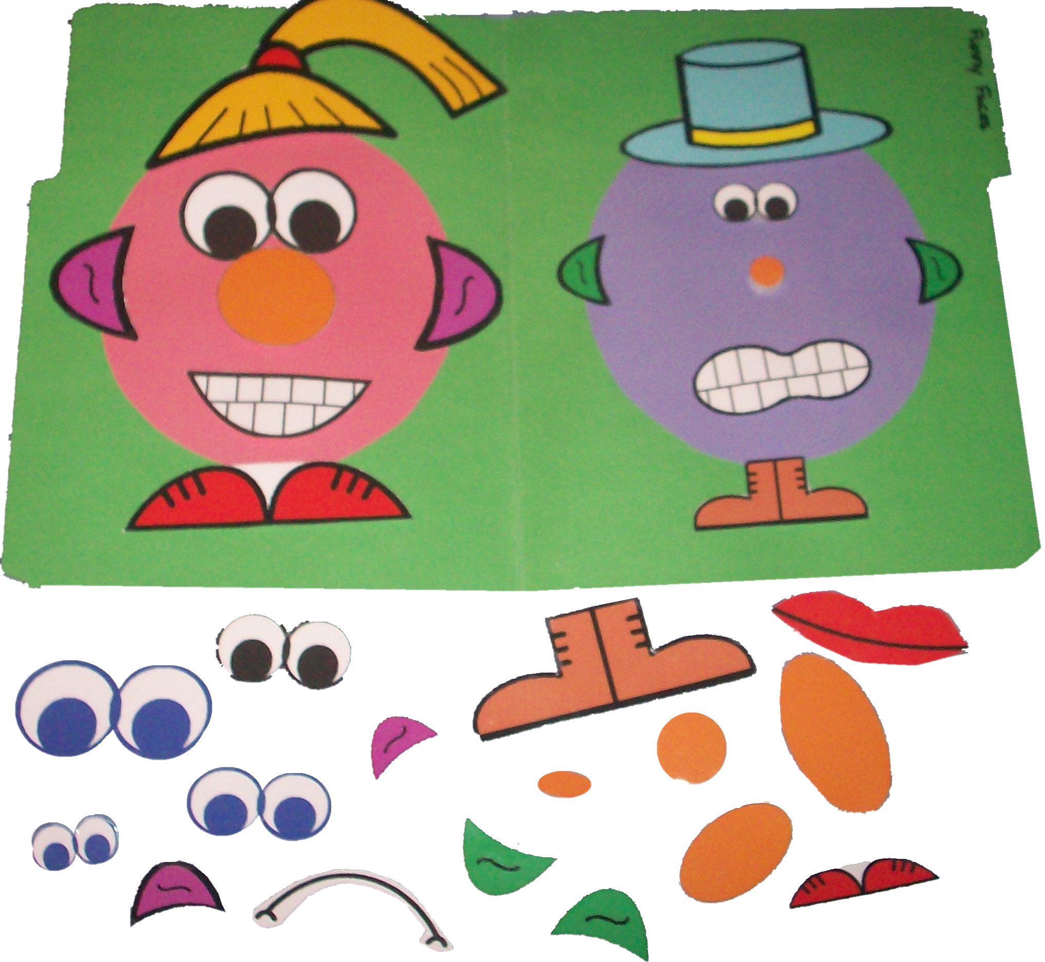 Funny faces games speech. Grammar clipart instruction