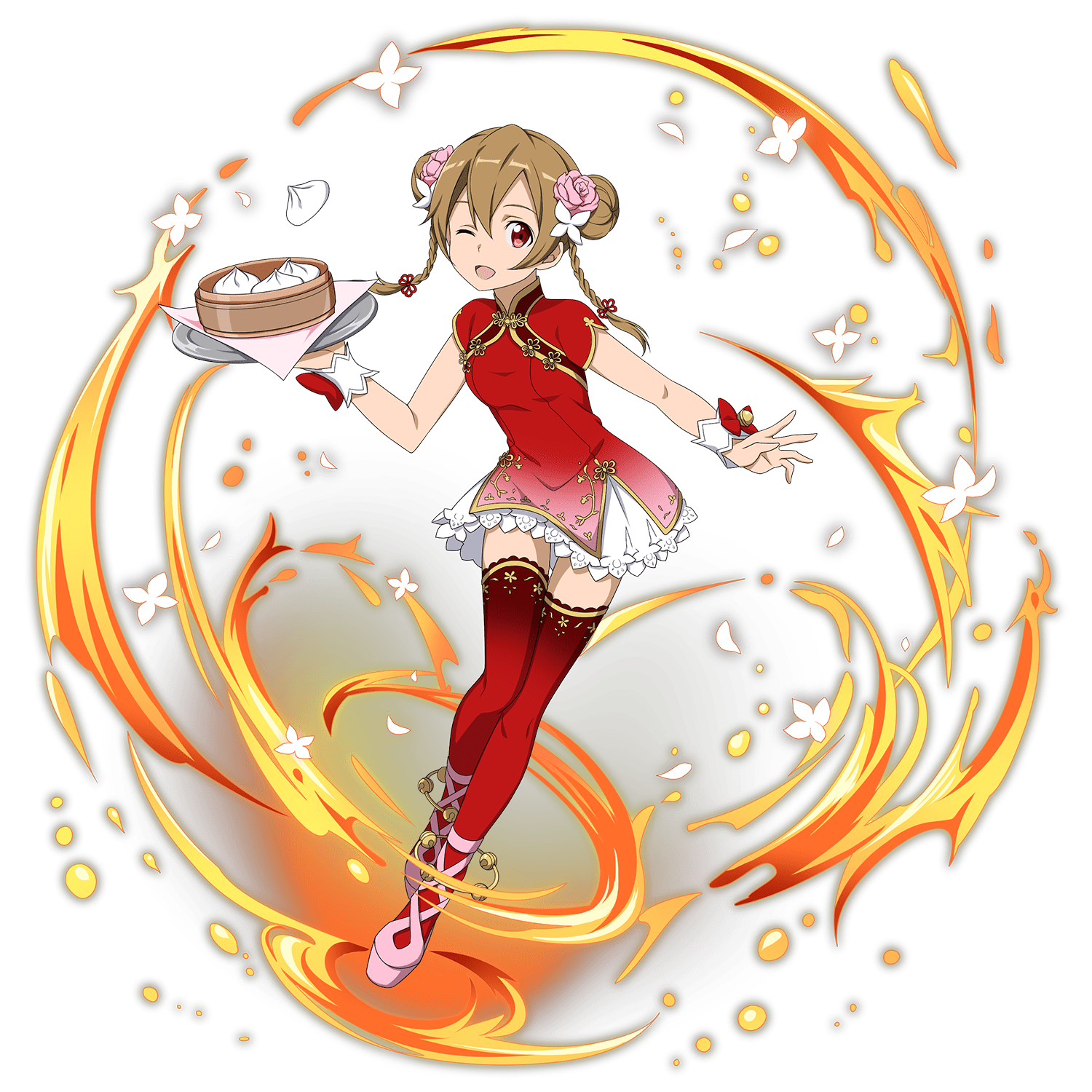 Girl in dress silica. Games clipart chinese garter