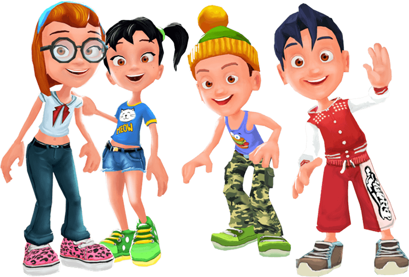 Virtual world for kids. Game clipart friendly kid