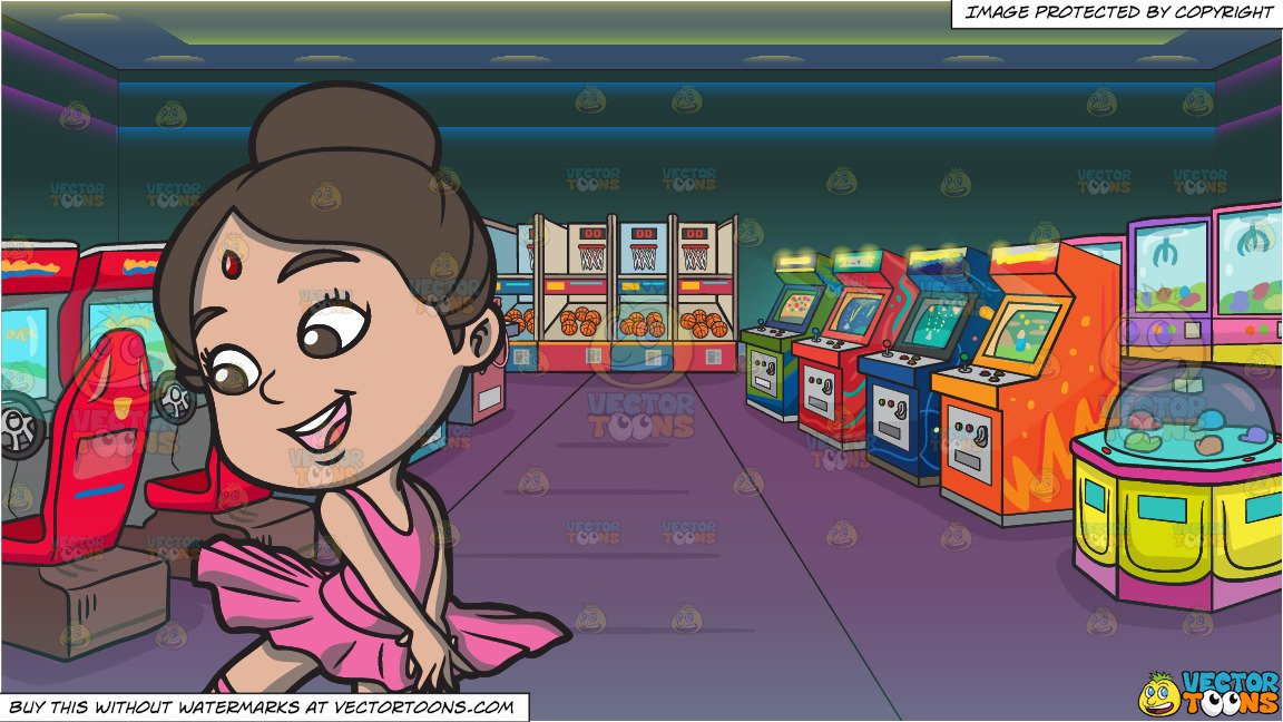A little ballerina and. Games clipart game indian