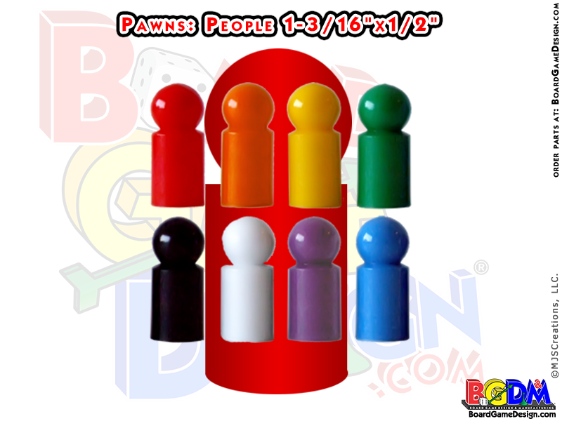 Games clipart game piece. Pawns people color set