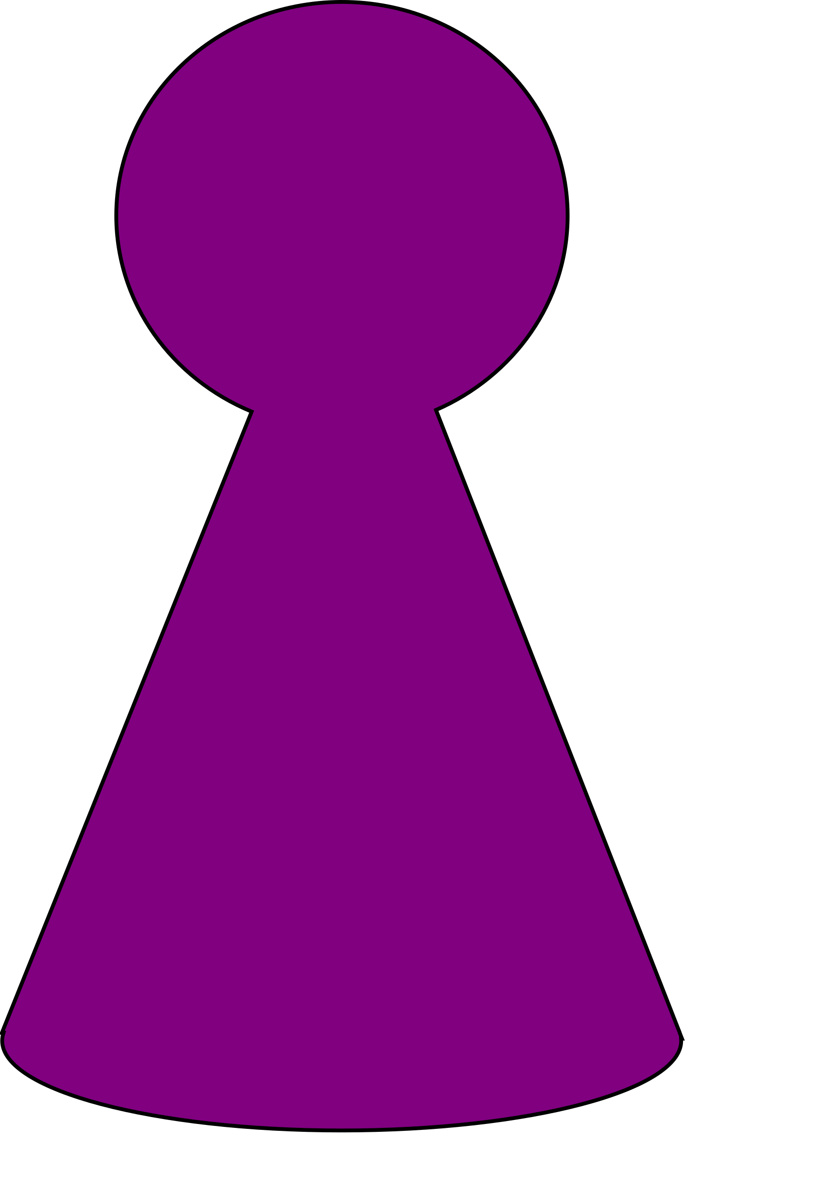 Ludo plum purple big. Games clipart game piece