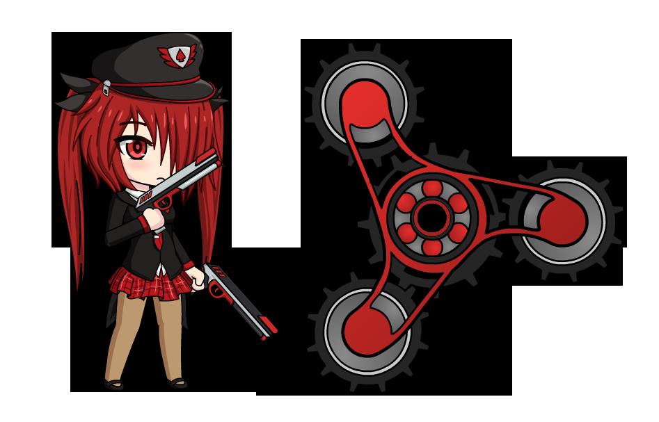 Reia garnetta anime fidget. Gaming clipart game spinner