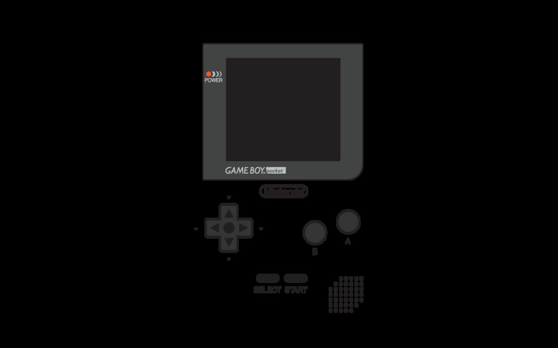 Games clipart gameboy. Game boy pocket layout