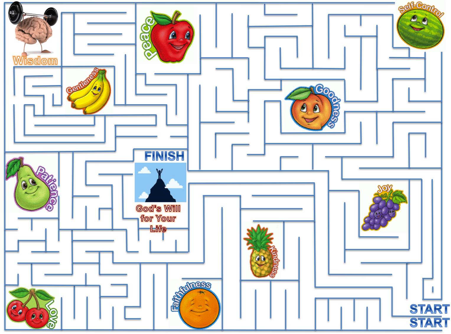 Patience teach them maze. Games clipart gentleness