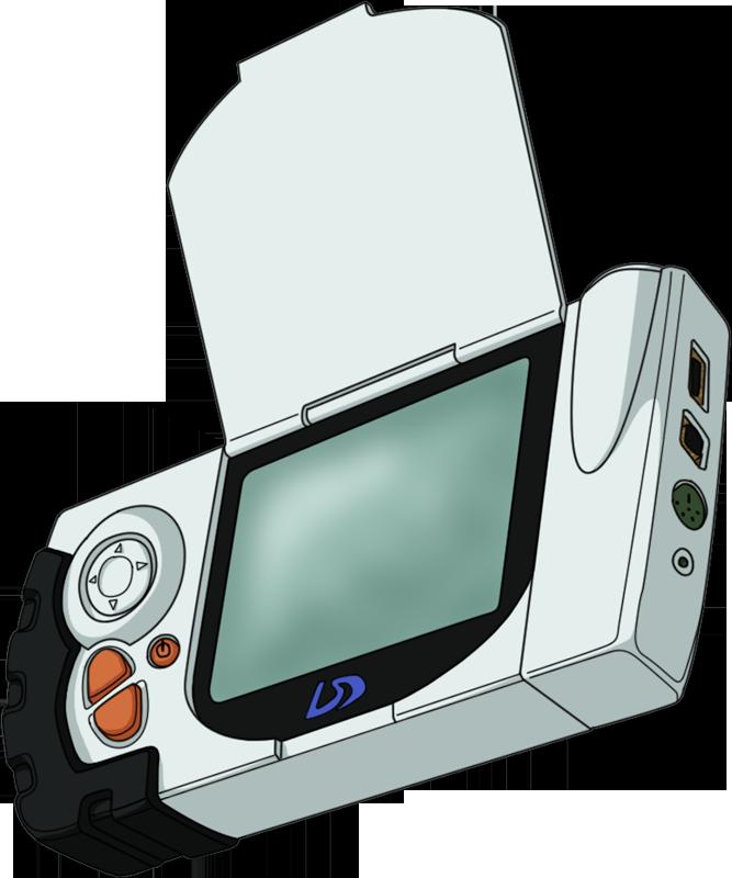 Games clipart handheld. Digimon adventure d terminal
