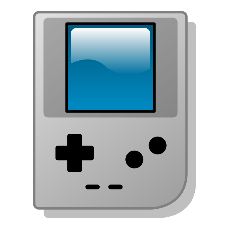 Gaming clipart boy. Handheld game console clipground
